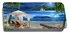 Tropical Paradise Portable Battery Charger by Glenn Holbrook