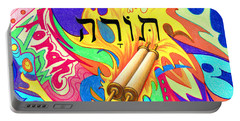 Torah Portable Battery Charger by Nancy Cupp
