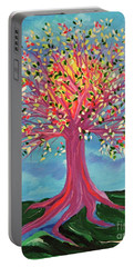 Portable Battery Charger featuring the painting Tori's Tree By Jrr by First Star Art