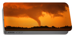 Tornado Sunset Portable Battery Charger by Jason Politte