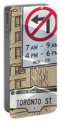 Toronto Street Sign Portable Battery Charger by Nina Silver