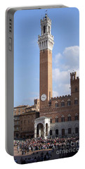 Torre Del Mangia - Piazza Del Campo - Siena  Portable Battery Charger
