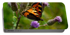 Tortoise Shell Butterfly Portable Battery Charger
