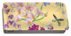 Tossed Orchids Portable Battery Charger by Kimberly McSparran