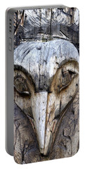 Totem Face Portable Battery Charger by Cathy Mahnke