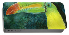 Portable Battery Charger featuring the drawing Toucan by Sandra LaFaut
