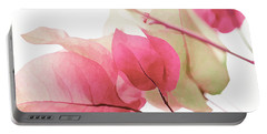 Touch Of Pink Bougainvillea Portable Battery Charger by Fraida Gutovich