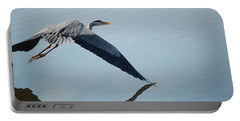 Touch The Water With A Wing Portable Battery Charger by Randy J Heath