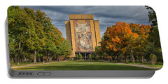 Touchdown Jesus Portable Battery Charger by John M Bailey