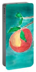 Portable Battery Charger featuring the painting Touching The Water by Frank Bright