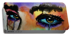 Portable Battery Charger featuring the painting Tougher Than You Think by Michael Cross