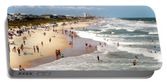 Tourist At Kure Beach Portable Battery Charger
