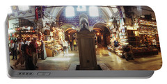 Tourists In A Market, Grand Bazaar Portable Battery Charger