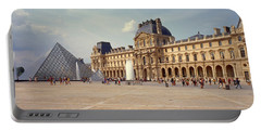 Tourists Near A Pyramid, Louvre Portable Battery Charger