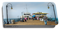 Tourists On Santa Monica Pier, Santa Portable Battery Charger by Panoramic Images