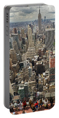 Tourists Viewing Downtown Manhattan Portable Battery Charger