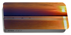Tours End - Kayak Sunset Photo Portable Battery Charger