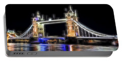 Tower Bridge Abstract Portable Battery Charger