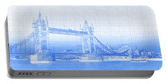 Tower Bridge On Thames River, London Portable Battery Charger