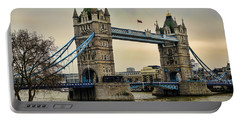 Tower Bridge On The River Thames Portable Battery Charger by Heather Applegate