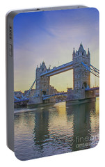 Tower Bridge Sunrise Portable Battery Charger by Chris Thaxter