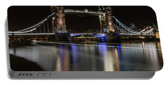 Tower Bridge With Boat Trails Portable Battery Charger