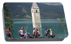 Portable Battery Charger featuring the photograph Tower In The Lake by Travel Pics