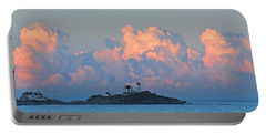 Towering Clouds Over Nubble Lighthouse York Maine Portable Battery Charger