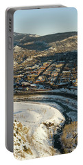 Town Of Durango In Winter, Colorado Portable Battery Charger