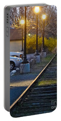 Tracks At Dusk Portable Battery Charger