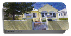 Portable Battery Charger featuring the photograph Traditional Bermuda Home by Verena Matthew