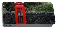 Traditional Red Telephone Box In London Portable Battery Charger