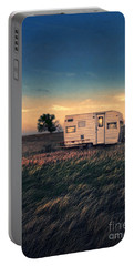 Trailer At Dusk Portable Battery Charger