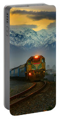 Train In New Zealand Portable Battery Charger by Amanda Stadther