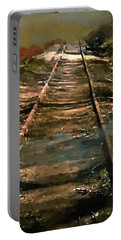 Train Track To Hell Portable Battery Charger