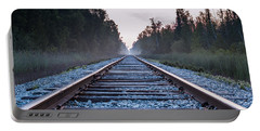 Portable Battery Charger featuring the photograph Train Tracks To Nowhere by Patrick Shupert