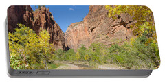 Portable Battery Charger featuring the photograph Tranquil Canyon Scene by John M Bailey