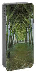 Tranquil Topsail Surf City Pier Portable Battery Charger by Betsy Knapp