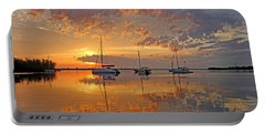 Tranquility Bay - Florida Sunrise Portable Battery Charger by HH Photography of Florida