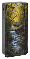 Portable Battery Charger featuring the painting Tranquility by Kim Lockman