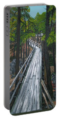 Portable Battery Charger featuring the painting Tranquility Trail by Sharon Duguay