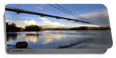 Portable Battery Charger featuring the photograph Transalaska Pipeline Bridge by Cathy Mahnke