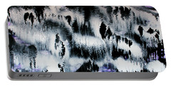 Portable Battery Charger featuring the painting Dancing In The Rain Abstract Contemporary Painting by Michelle Joseph-Long