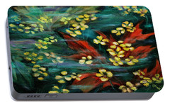 Portable Battery Charger featuring the painting Transforming... by Xueling Zou