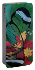 Transparent Elegance Portable Battery Charger by Sharon Duguay