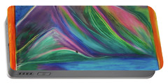 Portable Battery Charger featuring the painting Travelers Mountains By Jrr by First Star Art