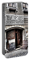 Portable Battery Charger featuring the photograph Travellers Hostel - Cesky Krumlov by Juergen Weiss