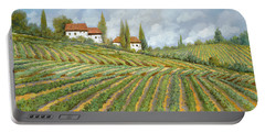 Tre Case Bianche Nella Vigna Portable Battery Charger by Guido Borelli