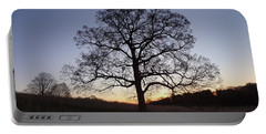 Tree At Dawn Portable Battery Charger by Michael Porchik