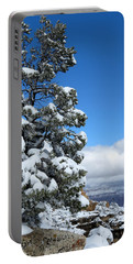 Portable Battery Charger featuring the photograph Tree At The Grand Canyon by Laurel Powell